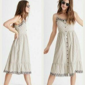 Madewell Jardin Embroidered Dress Sz 8 (O21)